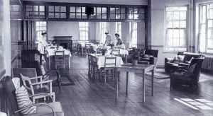 Meanwood Park Hospital 1919 - 1996  Villa Dining Room