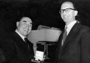 Dr Alexander Hogarth Wilson Physician Superintendent 1939 - 1962 with Dr Peter Harvey Medical Superintendent 1964 - 1969