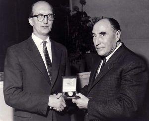Peter Harvey Pictured With Alexander Wilsom On Alexanders Retirement
