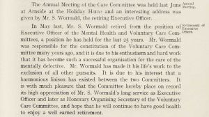 S Wormald, Eugenics Society Member 1937, Personal: Executive Office, Mental Deficiency Act Comm., 38 Park Square, Leeds 1938