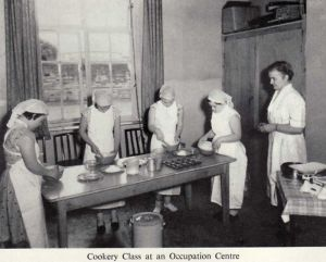 Cookery Class At A Occupation Center 1958