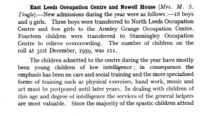 East Leeds, Occupation Centre 1959 p1