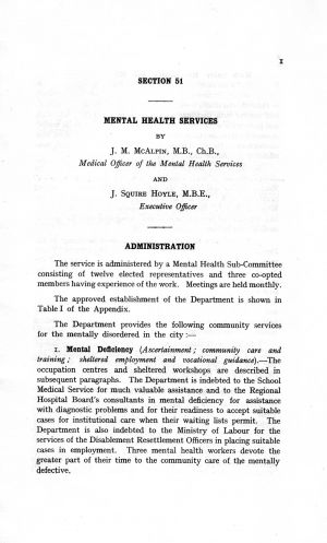 The Mental Health Services Leeds 1959 page 01