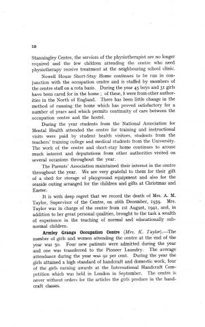 The Mental Health Services Leeds 1959 page 10