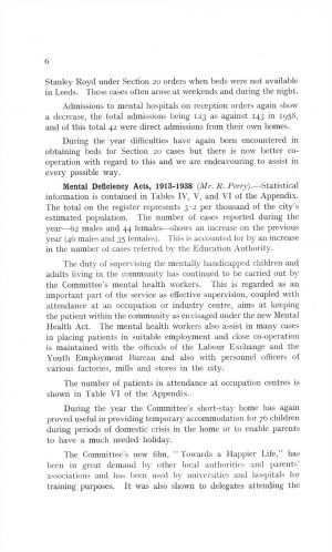 The Mental Health Services Leeds 1959 page 6