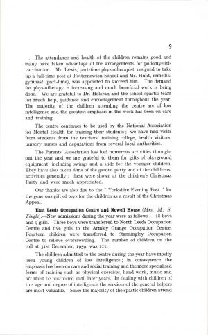 The Mental Health Services Leeds 1959 page 9