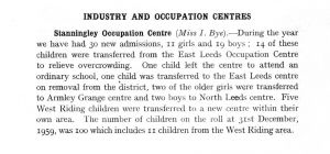 Stanningley Occupation Centre 1959