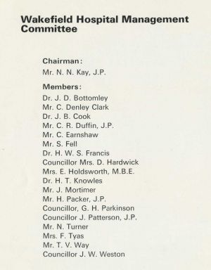 Wakefield Hospital Management Committee 1972