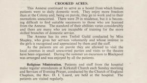 Crooked Acres Report 1950
