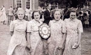 "July 26th 1949 ""The Winning Teams, Girls Villa 10"""